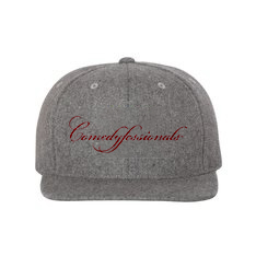 Comedyfessionals Collection Cap In Gray With Our Signature Logo