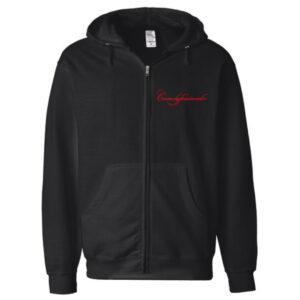 Comedyfessionals Collection Zip Hoodie Jacket In Black