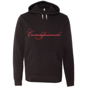 Comedyfessionals Collection Hoodie In Black With Our Signature Logo