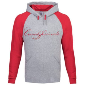 Comedyfessionals Logo Branded Sweat Shirt In Gray x Red LS