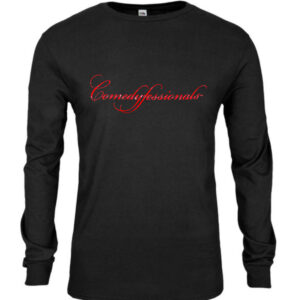 Comedyfessionals Logo Branded Tee Shirt Black  – LS